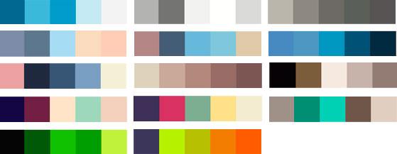 Сочетание цветов дизайне сайта в